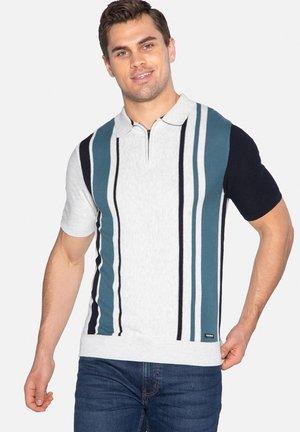 ROBINSON - Polo shirt - sgm / dark navy / mallard blue