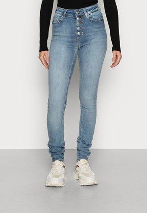 ONLBLUSH BUTTON - Jeans Skinny Fit - dark blue denim