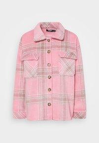 Missguided Petite - BRUSHED CHECK SHACKET - Košile - pink - 0