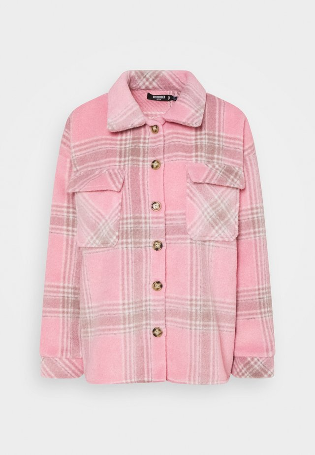 BRUSHED CHECK SHACKET - Overhemdblouse - pink