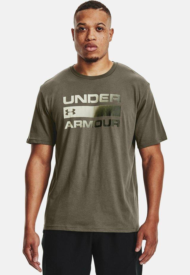 UA TEAM ISSUE WORDMARK  - T-shirts print - victory green