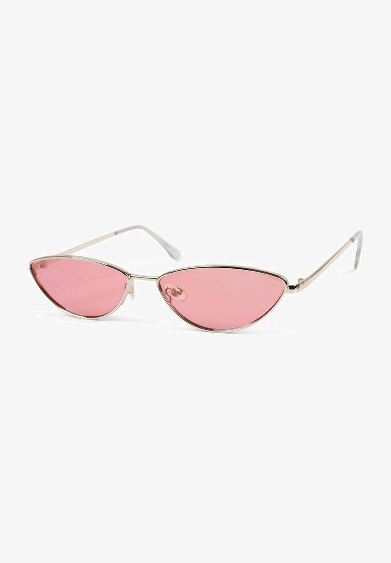 STYLEBREAKER - SCHMALEM METALLRAHMEN - Sunglasses -  gold / pink