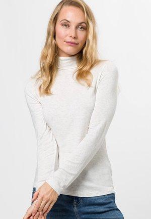 MIT ROLLKRAGEN - Long sleeved top - offwhite melange