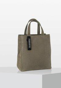 Liebeskind Berlin - LIZARD LOOK - Handbag - elephant green - 1