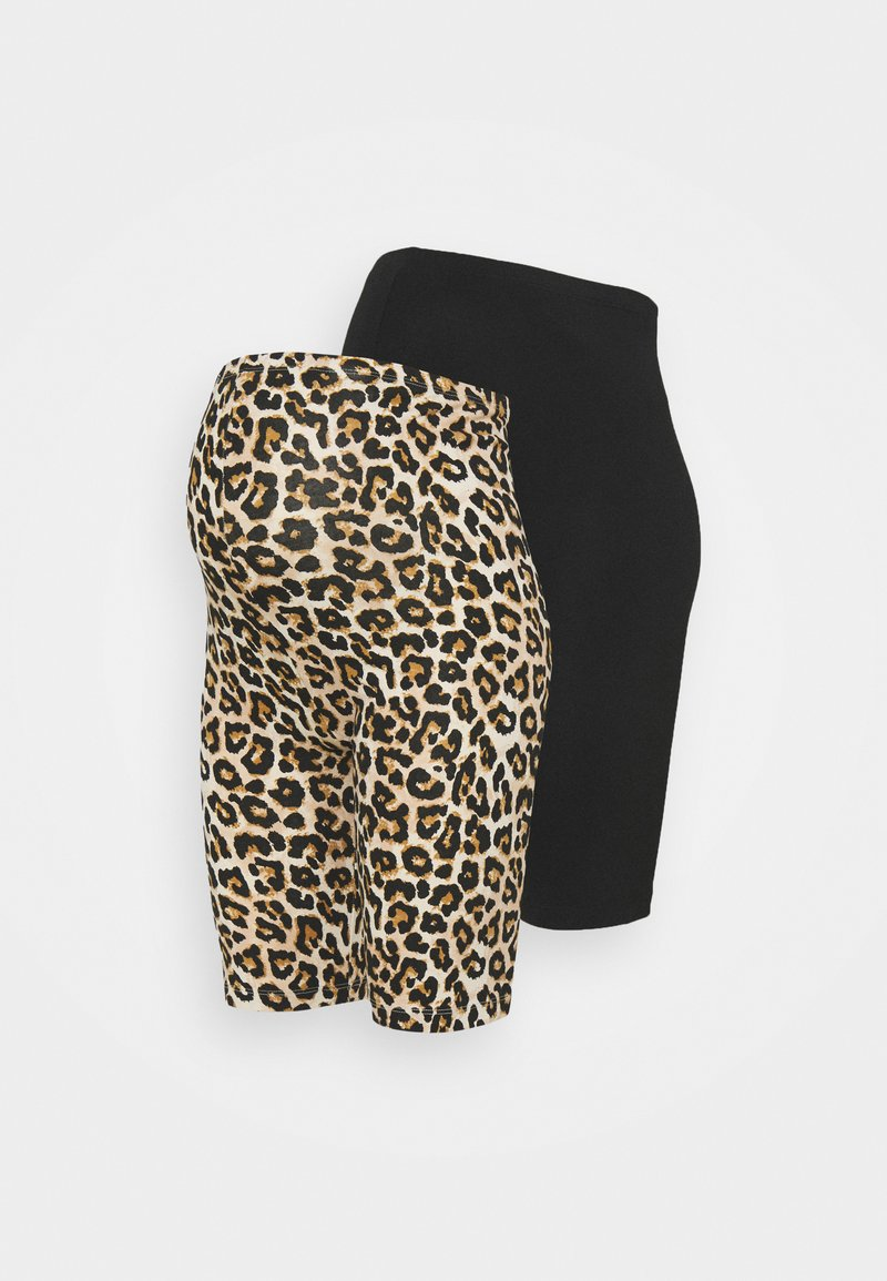 MAMALICIOUS - MLSANNIE BIKER 2 PACK - Shorts - black