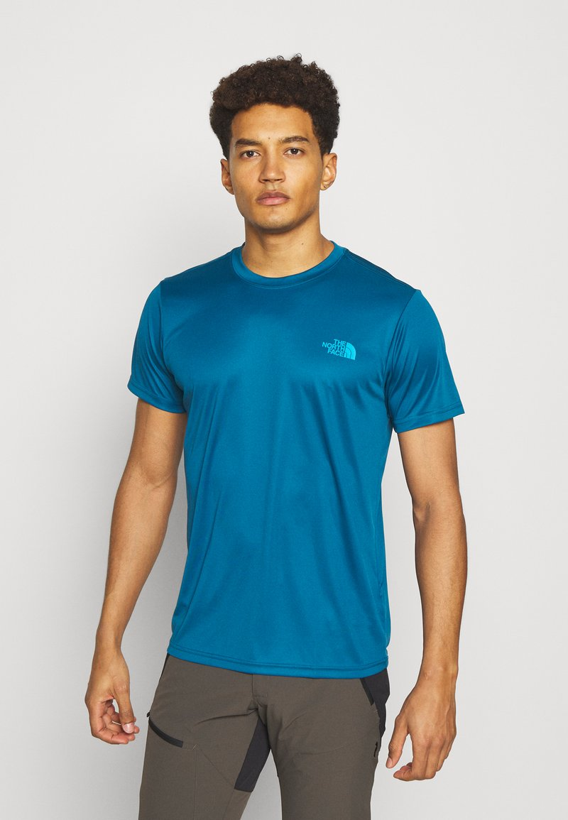 The North Face - REAXION BOX TEE - Print T-shirt - moroccan blue
