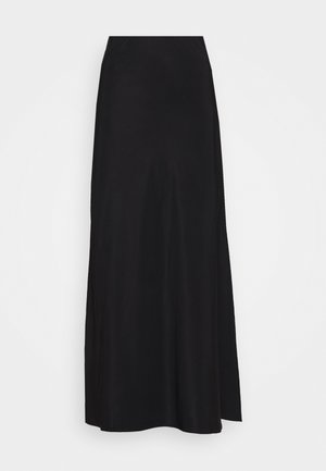 ROMANCER BIAS SKIRT - Maxi skirt - black