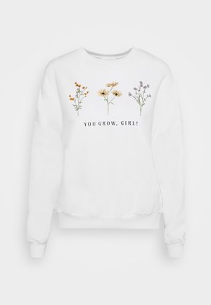 Printed Crew Neck Sweatshirt - Sudadera - off-white