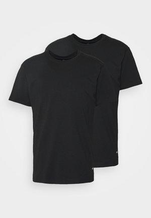 STANDARD ORGANIC TEE 2 PACK - T-paita - black