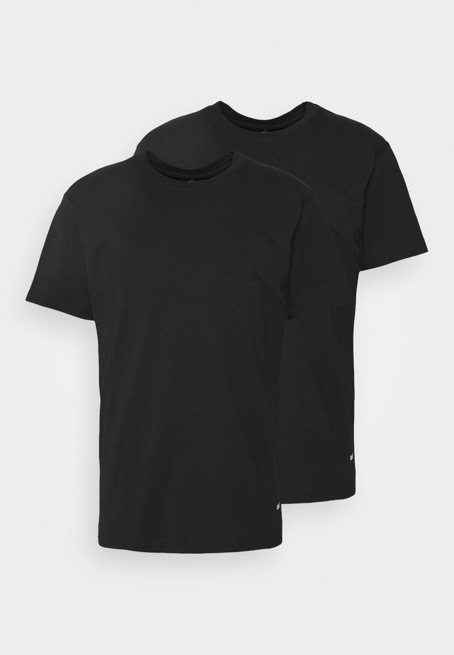STANDARD ORGANIC TEE 2 PACK - Camiseta básica - black