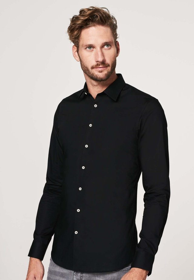 SUPER SLIM FIT - Overhemd - zwart