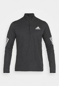 adidas Performance - 1/4 ZIP TRAINING WORKOUT AEROREADY PRIMEGREEN - Long sleeved top - black - 4