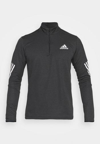 1/4 ZIP TRAINING WORKOUT AEROREADY PRIMEGREEN - Long sleeved top - black