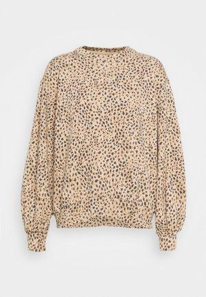 LEOPARD CREWNECK - Sweatshirt - brown
