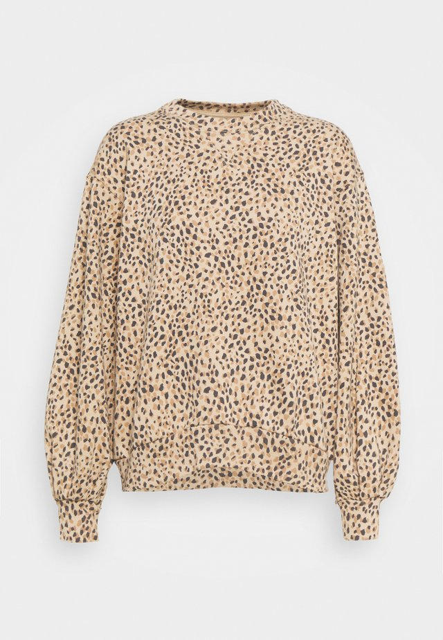 LEOPARD CREWNECK - Bluza - brown