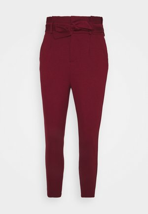 VMEVA LOOSE PAPERBAG PANT - Spodnie materiałowe - cabernet