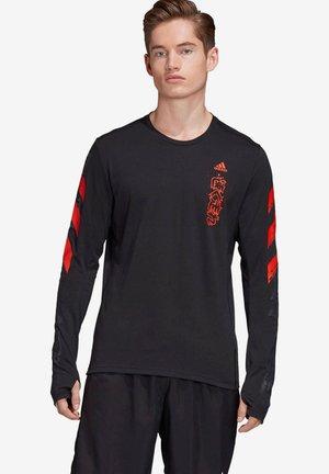 Long sleeved top - black/red