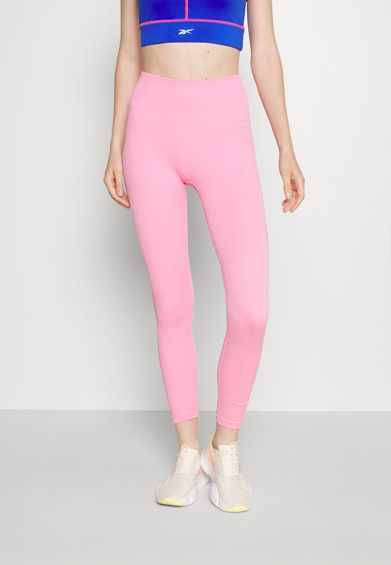 DKNY - HIGH WAISTED SEAMLESS  - Leggings - bubblegum