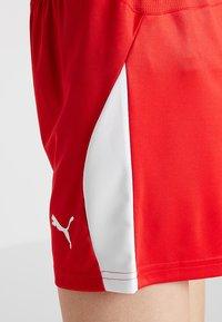 Puma - LIGA  - Pantalón corto de deporte - red/white - 4