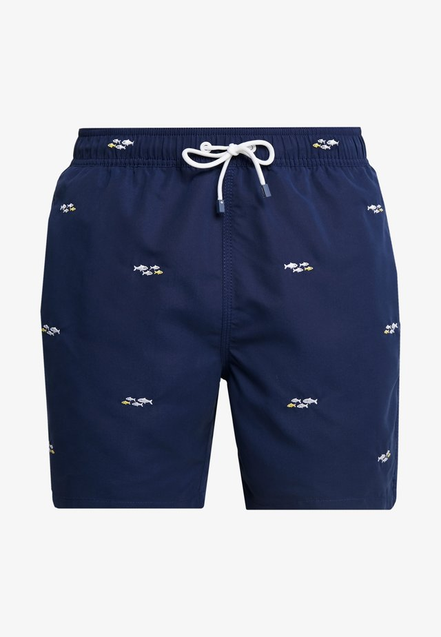 EMBROIDED FISH - Short de bain - dark blue