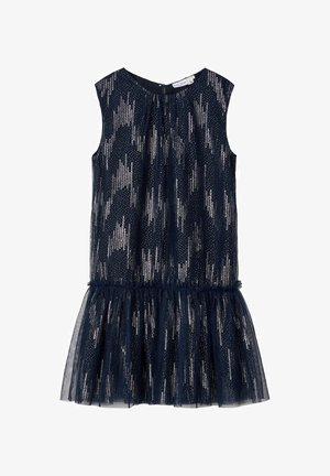 GLITZER TÜLL - Cocktail dress / Party dress - dark sapphire