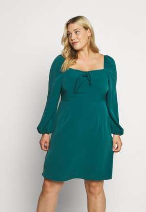 SQUARE NECK DRESS - Vestito estivo - green