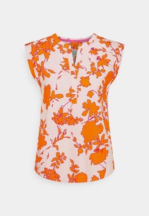 Print T-shirt - orange/rose