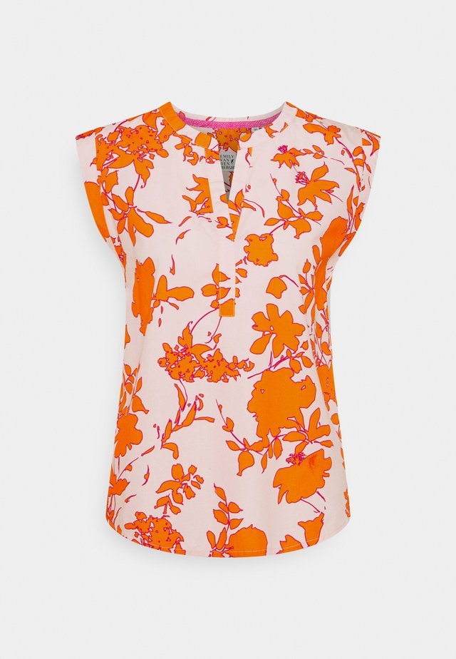 Printtipaita - orange/rose