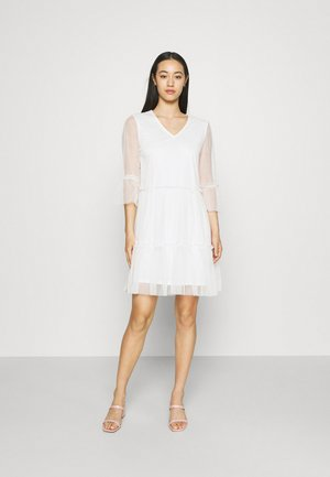 VIVERANDA V NECK DRESS - Cocktail dress / Party dress - cloud dancer