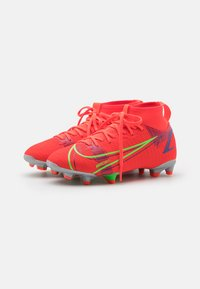 Nike Performance - MERCURIAL 8 ACADEMY MG UNISEX - Moulded stud football boots - bright crimson/metallic silver - 1