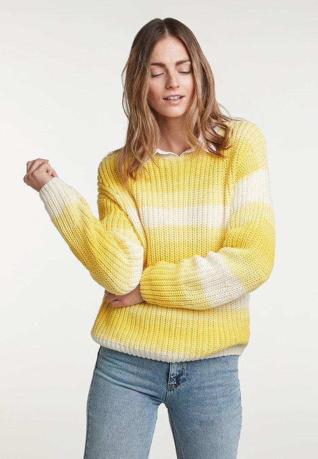 Trui - yellow/white