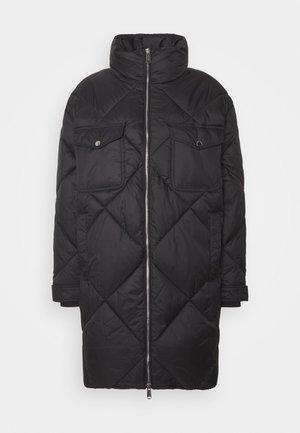 DIAMOND QUILTED COAT - Winter coat - black