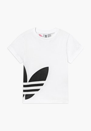 BIG TREFOIL - T-shirt z nadrukiem - white/black
