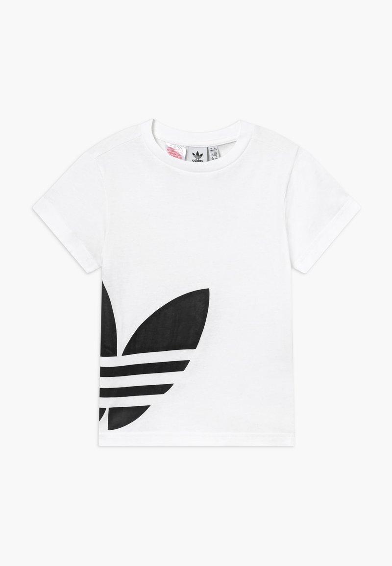adidas Originals - BIG TREFOIL - T-shirt print - white/black