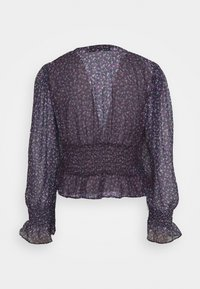 Missguided Tall - BUTTON WAIST FRILL HEM PLUNGE BLOUSE - Blouse - multicoloured - 1