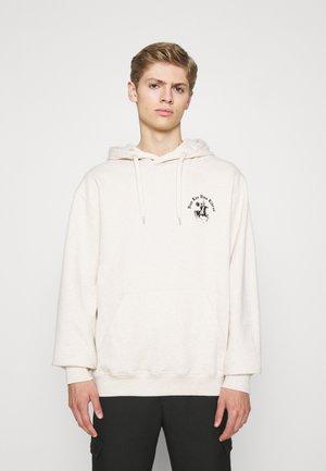 LIBRE HOODIE - Sweater - ecru/black