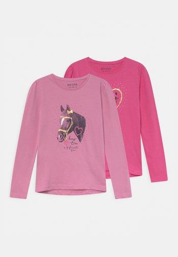 KIDS GIRLS 2 PACK - Top sdlouhým rukávem - azalee/pink