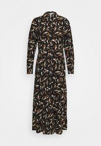 OBJLORENA LONG DRESS - Maxi dress - black/sepia/sandshell