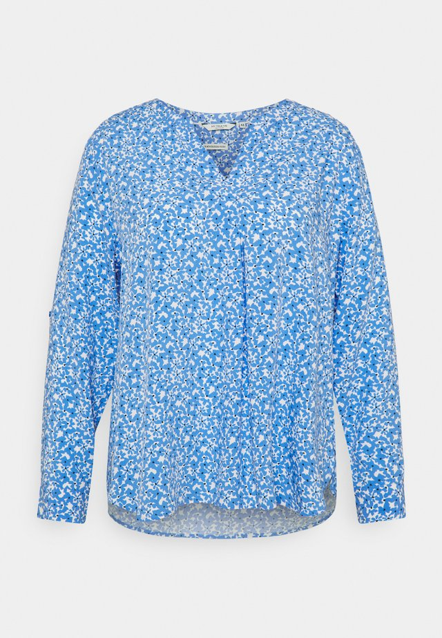 BLOUSE WITH PLEAT DETAIL - Blouse - blue