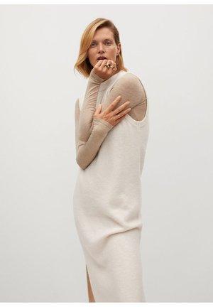 TOMMY - Pletené šaty - béžová