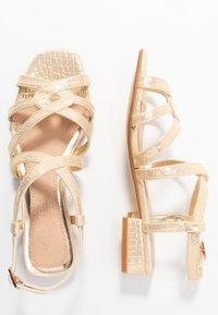 Head over Heels by Dune - JAIDAN - Sandals - gold metallic - 3