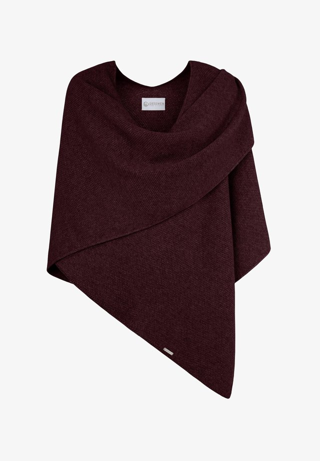 CASHMERE-WOOL-PONCHO - Cape - cassis