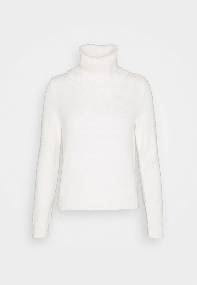 VIFEAMI ROLLNECK TOP - Strikkegenser - whisper white