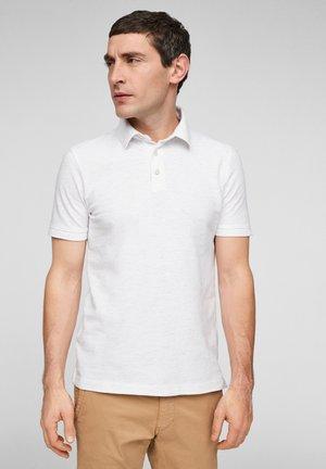 Polo shirt - white melange
