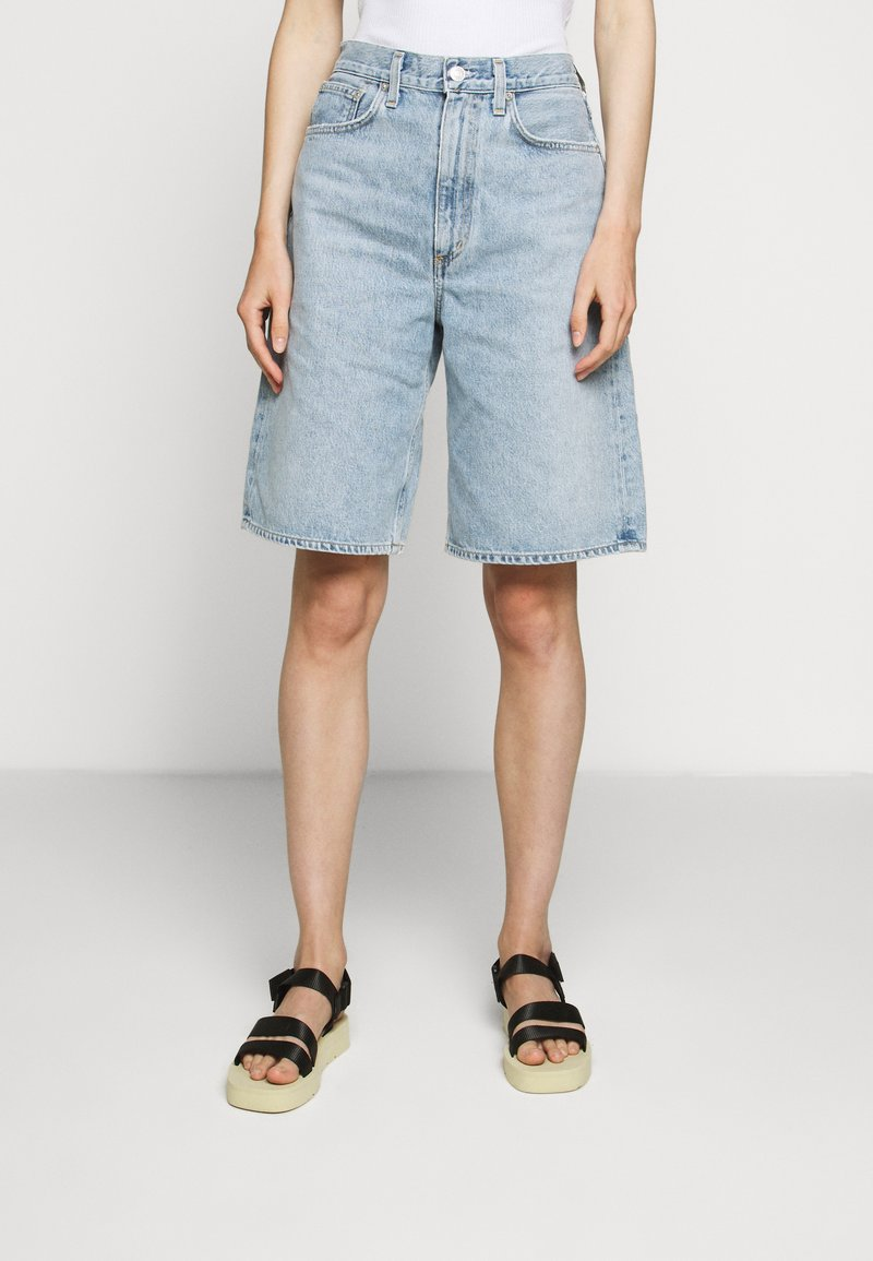 Agolde - LENNOX CULOTTE - Denim shorts - blue wave