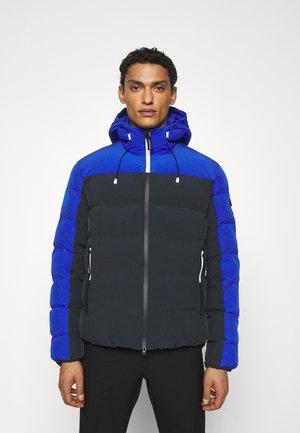 Winter jacket - black/royal blue