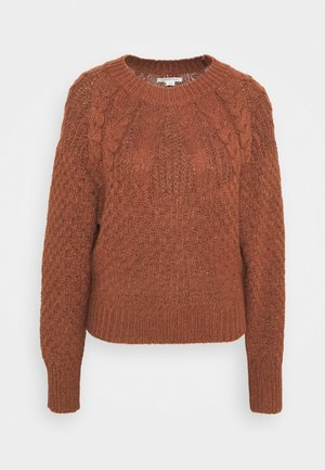 PLACED CABLE RAGLAN - Jumper - rust