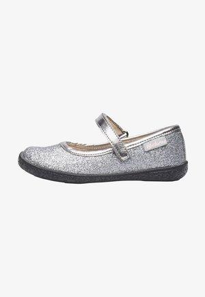 PAVIA - Ankle strap ballet pumps - silber
