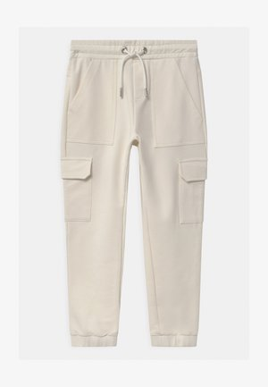 GIRLS - Tracksuit bottoms - naturweiss reactive