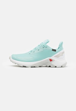 ALPHACROSS BLAST GTX - Trail running shoes - pastel turquoise/white/lunar rock
